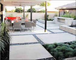 Modern Patio With Concrete Floors Cleaning Your Outdoor Patio
