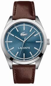 lacoste edmonton brown leather strap watch 2010889 men s lacoste edmonton brown leather strap watch 2010889