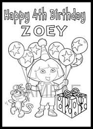 Small Picture Dora the Explorer Printable Coloring Pages Birthdays Birthday