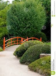 Japanese Garden Plants Japanese Garden Design With Bridge And Plants Stock Photo Image
