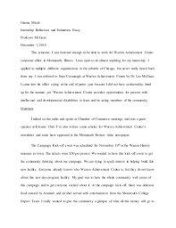 internship reflection gianna miceli internship reflection and evaluation essay professor mcgaan 1 2016 this semester