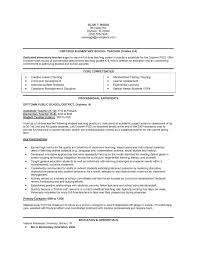 Elementary Teacher Resume Template Free Elementary Classroom Free