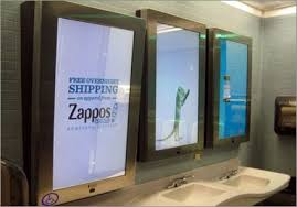 Public bathroom mirror Broken Mirrus Adweek Public Bathrooms Get Worse With Mirror Ads Adweek