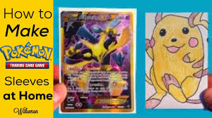 how to make your own trading cards how to make your own pokemon card sleeves at home youtube
