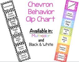 Chevron Behavior Clip Chart 2 Options Color And Black White