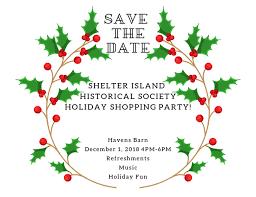 Holiday Party 2018 Shelter Island Historical Society
