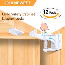 Amazoncom Cabinet Locks Child Safety Latches 12 Pack Baby