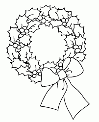 Wreath Coloring Page Coloring Page Christmas Coloring Page Christmas