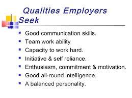 good work qualities