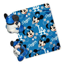 officially licensed mlb throw set los angeles dodgers