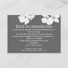 Hotel Accommodations Cards White Vintage Dogwood Hotel Accommodation Cards Zazzle Com