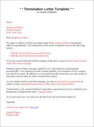 Employment Termination Letter Templates Termination Letter Template