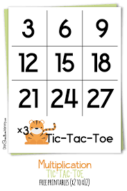 Multiplication Tic Tac Toe {Fun Math Game} - onecreativemommy.com