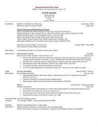 Sample New Grad Nurse Resume Resume Sample Directory