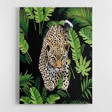fl leopard canvas wall art print