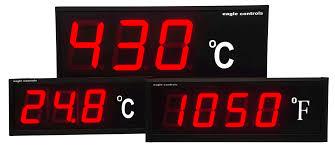 examples large digital led temperature displays