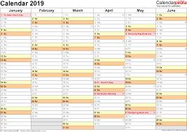 Yearly Calendar Planner Template Excel Calendar 2019 Uk 16 Printable Templates Xlsx Free