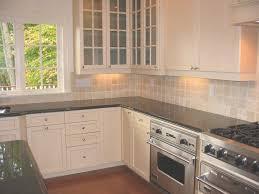 kitchen backsplash white cabinets brown countertop. L Shape Light Brown Wood Kitchen Cabinet Countertop Tile In Backsplash White Cabinets