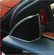 car door interior tweeter loudspeakers frame decorative cover trim chrome abs for mercedes benz c cl w205 c180 c200 c300 by autoparts4s