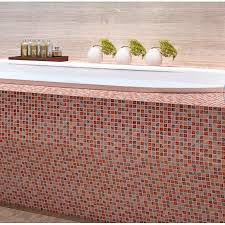 le glass tile backsplash ideas bathroom decorative wall stone interior bathtub wall decor red crystal marble