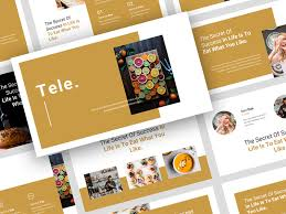 Food Presentation Template Tele Food Powerpoint Template By Stringlabs On Dribbble