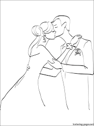 Small Picture Wedding kiss coloring page Coloring pages