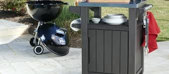 unity indoor outdoor entertainment storage table prep station grill plans