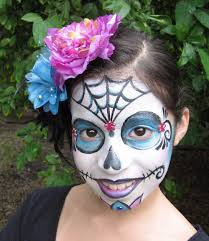 sugar skull day of the dead face painting by lisa mes apinchofwonderful