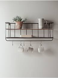 industrial shelf with hooks small