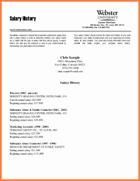 How To Salary Requirements Cover Letter Resume Cover 6 Example Of