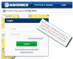 After Plugging In A Navionics Card Chart Updater Web Page