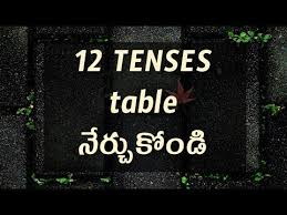 English Grammar Tenses Chart In Telugu With Examples Day 3