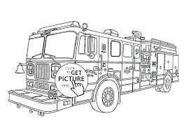 Fire Truck Coloring Pages Free Smithfarmspacom
