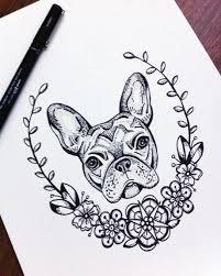 frame tattoo designs. Lovely Dotwork Bulldog Head Witg Floral Frame Tattoo Design -  Tattooimages.biz Designs P