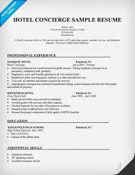 hotel concierge resume - Concierge Resume Objective