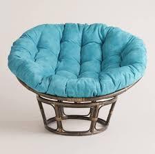 Interesting Papasan Chair Ideas With Aqua Blue Papasan Cushion