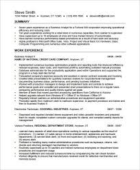 Resume For Business Analyst Position Simple Credit Card Business Analyst Resume Awesome Analyst My Perfect