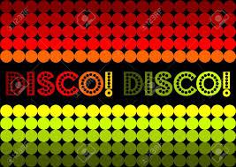 Jaren 70 Disco Geïnspireerd Ontwerp Boogie Op Omlaag Royalty