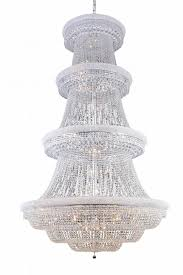 primo collection large hanging fixture h99 5in d62 lt 56 chrome finish royal