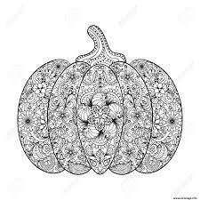 Coloriage Citrouille Pour Halloween Adulte Zentagle Jecolorie Com