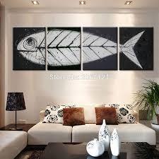 Modern Wall Paintings Living Room Online Get Cheap Painted Wall Art Ideas Aliexpresscom Alibaba