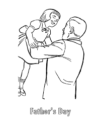 Small Picture Fathers Day Coloring Pages Father and Daughter on Fathers Day