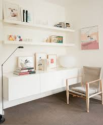 good for a kids room too. reckon you can make one with ikea besta + ikea  floating shelving ( could stack up 2 storage units)