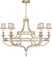 fine art lamps 857840 21st prussian neoclassic brandenburg gold leaf chandelier lighting w shades loading zoom