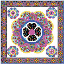 Quilting Treasures Carnivale Bloom Quilt Kit 44 by 44 inches | | & Quilting Treasures Carnivale Bloom Quilt Kit 44 by 44 inches Adamdwight.com