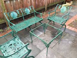 image of throughout expanded metal outdoor furniture ideas