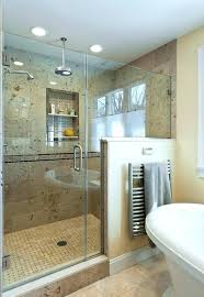 glass shower half wall shower door with half wall bathroom traditional with air tub basket weave