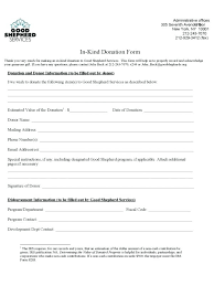Sample Donation Form Printable Donation Form Template In Kind Receipt Letter