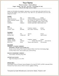 Actors Resume Format Amazing Actors Resume Template] 48 Images 48 Unique Acting Resume
