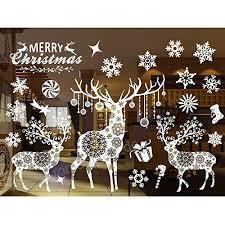 Weihnachten Aufkleber Fensterbilder Schneeflocken